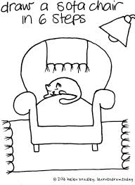 comfy chair drawing. Interesting Drawing Learn To Draw This Very Cute Sofa Chair In Just 6 Steps With Comfy Chair Drawing