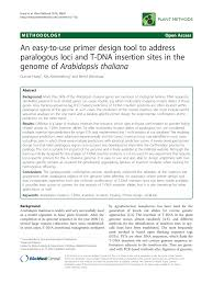 Primer Design Tool Pdf An Easy To Use Primer Design Tool To Address Paralogous