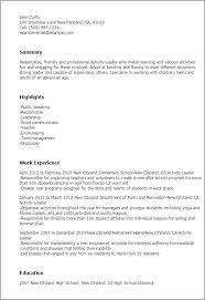 Leadership Resume Gorgeous Professional Activity Leader Templates To Showcase Your Talent