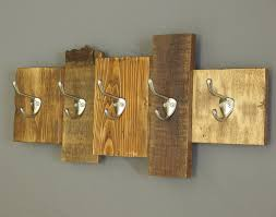 Brushed Nickel Coat Rack Wooden coat rack rustic wall art reclaimed wood cabin decor wall 31