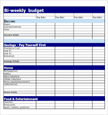 29 Images Of Bi Weekly Budget Template Printable Leseriail Com