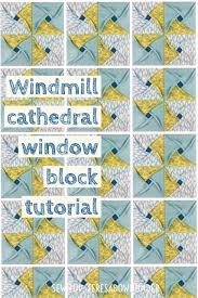Video tutorial: Windmill cathedral window – quilt block | Sewn Up & Video tutorial: windmill cathedral window quilt block Adamdwight.com