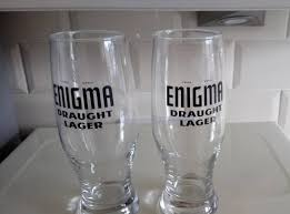 enigma draught lager glasses