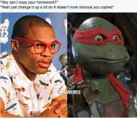 Big mac and me thread :pimp: Hey Can L Copy Your Homework Yeah Just Change It Up A Bit So It Doesn T Look Obvious You Copied Nbamemes Russell Westbrook Russ West Thunder Okc Tmnt Turtle Turtles Copy
