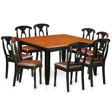 Shop Pfke9 Bch Blackcherry Rubberwood Dining Table And 8 Solid