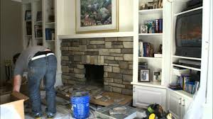 refinish fireplace stone