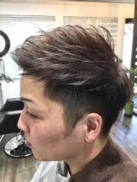 春メンズショートオシャレにキメるグレイカラー Log Hair