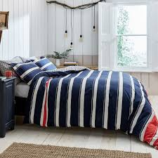 joules galley grade stripe duvet cover for super king king size bed in navy