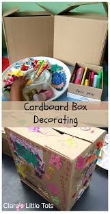 Decorating Cardboard Boxes Cardboard Box Decorating Cardboard boxes Fun activities and 32