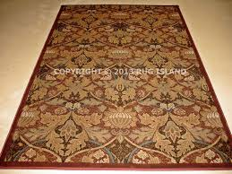 8x11 william morris arts crafts mission style rust red beige gold craftsman area rugs for 14