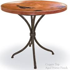 magnificent wrought iron italia bistro table with 36in round top 36