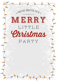 A Merry Little Party Free Printable Christmas Invitation Template Gorgeous Free Dinner Invitation Templates Printable