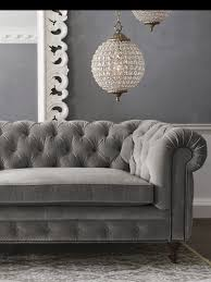 Grey Tufted Sofa More Grey S16