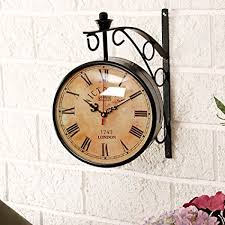vintage style clock. Contemporary Style Unravel India Vintage Style Station Brass Double Side Antique Clock On C