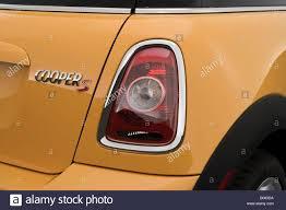2008 Mini Cooper S In Yellow Tail Light Stock Photo