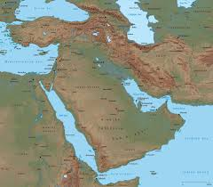 middle east map  asia