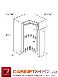 36 lazy susan corner base cabinet ada