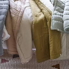 Filled Reversible Quilt, Ochre & Cotton Filled Reversible Quilt, Ochre Adamdwight.com