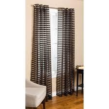 captivating black horizontal striped grommet curtains ideas