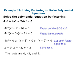 solving polynomials factoring example 1a 3a using solve polynomial