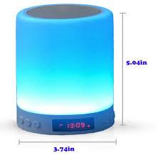 Atozpeak Touch Sensor Lamp Night Light Bluetooth Speaker Table Lamp Dimming Led