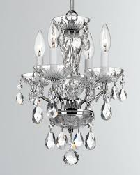 traditional crystal 4 light chrome mini chandelier
