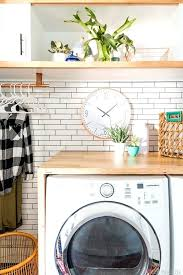 countertop clothes washer laundry room makeover white subway tile charcoal vintage revivals best countertop clothes washer