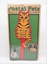 metal mailbox flag. Kitty Cat Postal Pets Metal Mailbox Flag Kit NIP Sealed Made USA Free S/H F