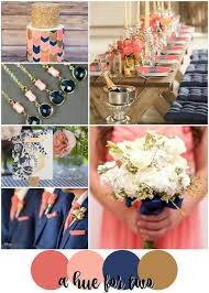 peach wedding colors. Coral Peach Navy and Gold Summer Wedding Colour Scheme Wedding