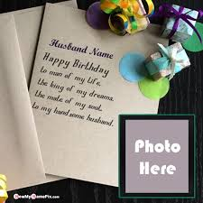birthday wishes card for husband name