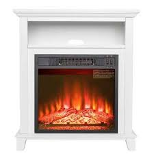 27 in freestanding electric fireplace insert
