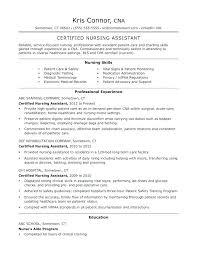 Nursing Assistant Resume Skills Classy Cna Resume Examples Resume Example Certified Nursing Assistant