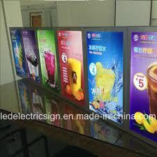 Led Light Display Advertising Board Hot Item Led Fruit Juice Advertising Display Board