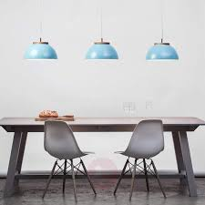 Industrial-looking pendant light Dub in turquoise, Pendant ...