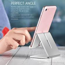 aluminum alloy desk phone stand holder for iphone 6 6s 7 plus 5s se universal tablet bracket desktop mobile phone holder aluminum alloy desk phone stand