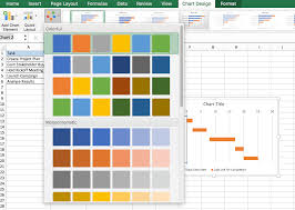 Change Colour Of Gantt Chart Bars Automatically Free Gantt Charts In Excel Templates Tutorial Video