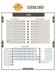 Hu Ke Lau Seating Chart Seating Chart Ivoryton Playhouse