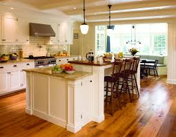 Kitchen Island Bar Designs Picture Of White Kitchen Island Breakfast Bar Design With Stools