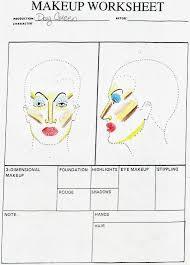 se makeup template face