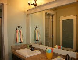 Bathroom Giant Bathroom Mirror Wood Frame Around Bathroom Mirror