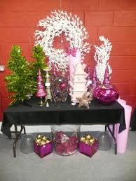 decorations including white glitter tree two pink tulip vases large glass vases two pink cube vases