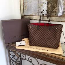 louis vuitton neverfull sizes. new in box louis vuitton neverfull gm large damier ebene canvas leather tote bag in clothing, shoes \u0026 accessories, women\u0027s handbags bags, sizes 0