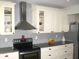 Subway Tile Floor Kitchen Glass Subway Tile Kitchen Grey Striped Laminate Wood Down Cabinet