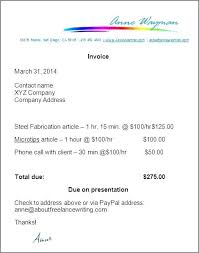 Sample Work Invoice How To Make An Invoice Template Pdf Mac Sample For Writing