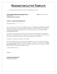letter of resignation format sample template format for resignation letter