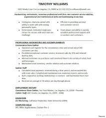 Resume Examples Of Cashier Therpgmovie