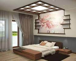 bedroom ceiling designs style with simple headboard and decoration false india