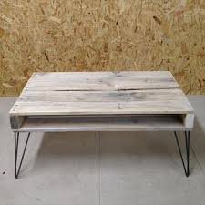 pallet coffee table hairpin legs