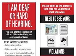 Print Out Helps Deaf Hard Of Hearing Drivers Communicate