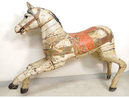carousel horse carousel carved wooden polychrome limonaire nineteenth brothers